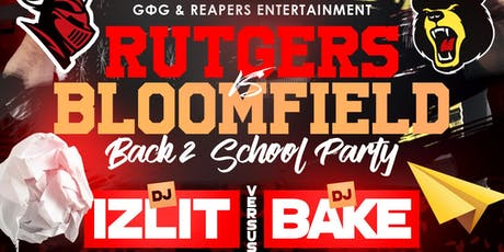 Dj Bake vs Dj Izlit The RU Vs BC: Back To School Party tickets