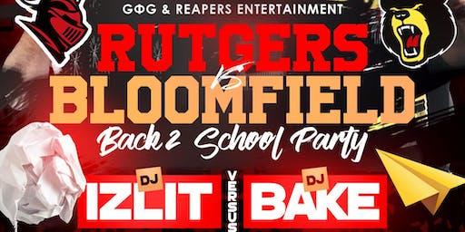 Dj Bake vs Dj Izlit The RU Vs BC: Back To School Party