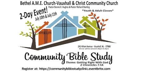 Community Bible Study tickets