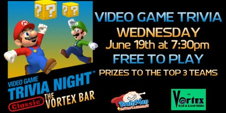 Video Game Trivia at The Vortex Bar and Gameroom tickets