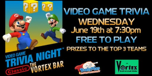Video Game Trivia at The Vortex Bar and Gameroom