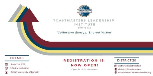 Toastmasters Leadership Institute 2019-2020 Club Officers Training - 1st Round