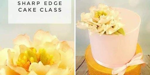 Two Tier Peony & Sparkle Cake Class