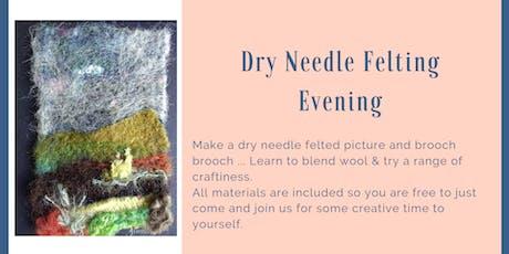 Dry needle felting evening tickets