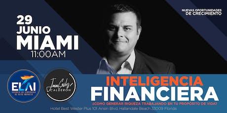 Inteligencia financiera. ¿Cómo generar riqueza trabajando en tu propósito? tickets