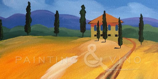 """Road to a Tuscan Villa"" Painting & Vino Class"