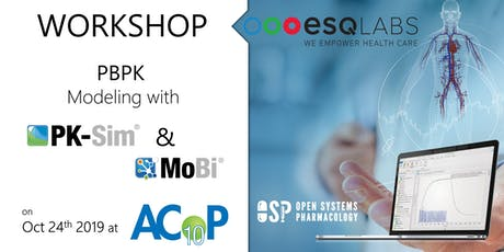 Post ACoP workshop: PBPK with PK-Sim & MoBi (OSP Suite) tickets