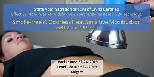Smoke-free & Odorless Heat Sensitive Moxibustion 3 days workshop Calgary 净烟无味-热敏灸核心技术初级班-卡尔加里