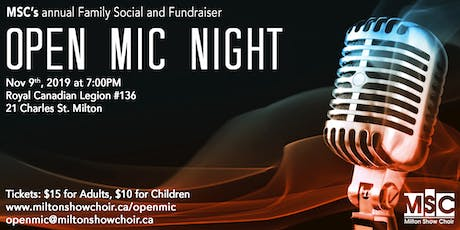 MSC Open Mic Night 2019 tickets