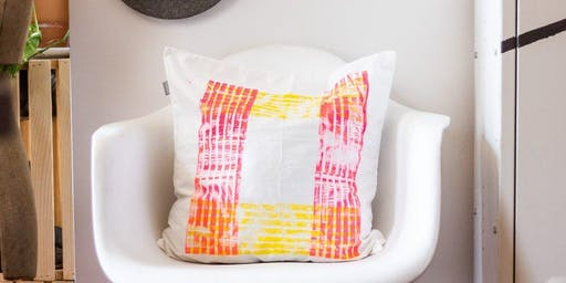 Makers Workshop: Block Printed Pillow Cases
