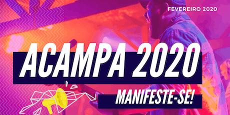 Acampa 2020 - Manifeste-se bilhetes