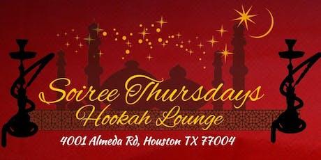 Soiree Thursday's Hookah Lounge tickets