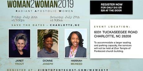 Woman 2 Woman 2019 tickets