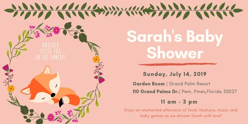 ANOTHER FOX IN THE FAMILY: Sarah's Baby Shower