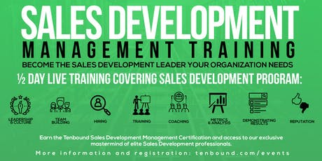 Sales Development Management Training San Francisco June 25th 2019 tickets