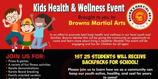 Brown's Martial Arts Health and Wellness Fair