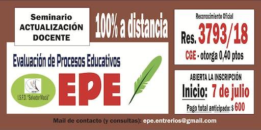 Seminario de EVALUACIÓN - modalidad 100%  A DISTANCIA