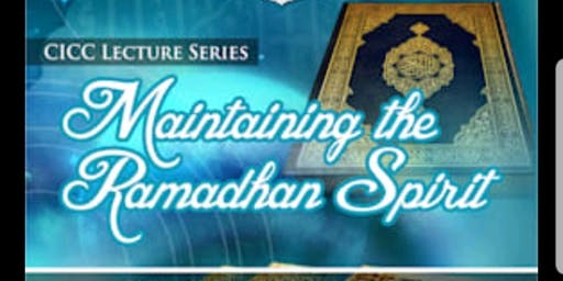 Maintaining the Ramadan spirit