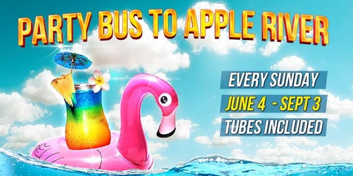 Party Bus To Apple River - Every Sunday (Tubing & Tanking Included)