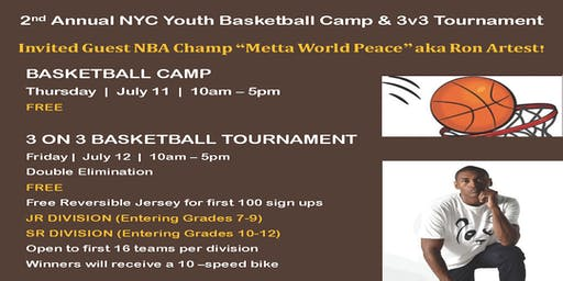 2nd Annual NYC FREE BASKETBALL SKILLS CAMP & 3v3 TOURNAMENT