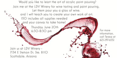 Pouring Paint and Wine!