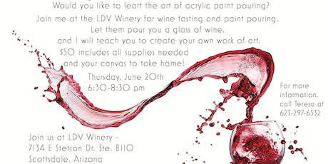 Pouring Paint and Wine!  tickets