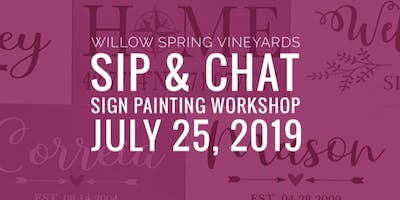 July Sip & Chat - Sign Painting Workshop