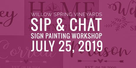July Sip & Chat - Sign Painting Workshop tickets