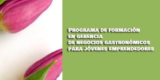 Programa de formación en gerencia de negocios gastronómicos juvenil