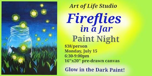 Paint Night: Fireflies in a Jar
