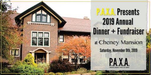 2019 P.A.X.A. Annual Dinner + Fundraiser