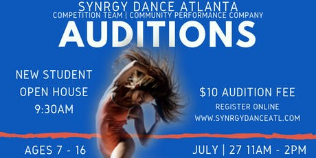 Synrgy Dance Atlanta - Dance Team/Company Auditions tickets