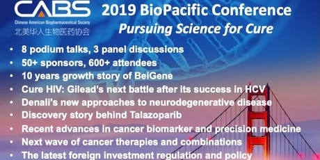 CABS 2019 BioPacific Conference tickets