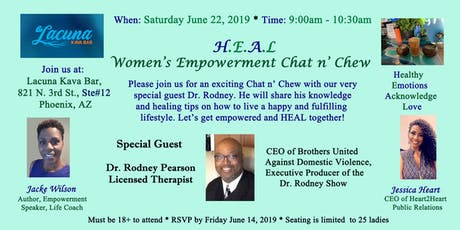 H.E.A.L  Women's Empowerment Chat n' Chew  tickets