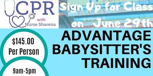 Babysitter Training for 12-17 year olds