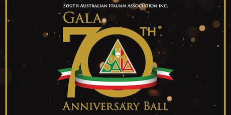 South Australian Italian Association 70th Anniversary Ball tickets