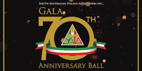 South Australian Italian Association 70th Anniversary Ball tickets