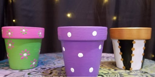 Painting Pots with Pam