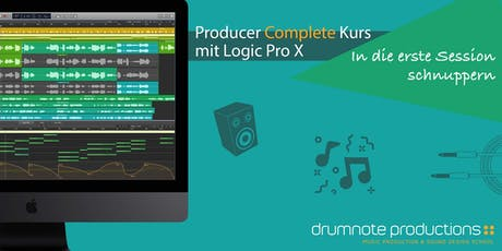 Producer Complete Kurs mit LOGIC PRO X * Erste Session tickets