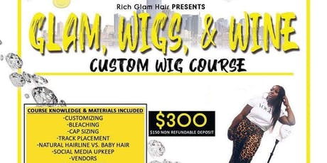 Glam, Wigs & Wine  tickets