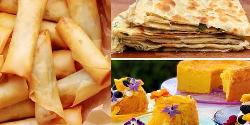 June 29th lumpia, cake and onion pancakes class $30