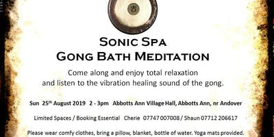 Sonic Spa Gong Bath Meditation - 25th August 2019