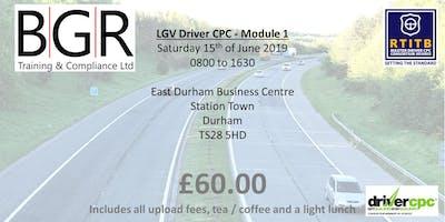 LGV Driver CPC 7 hour module.