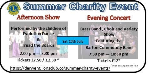Lions Summer Charity Events