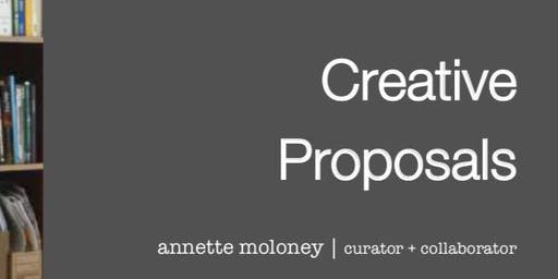 Creative Proposal Writing Workshop and One on One Clinics for Artists