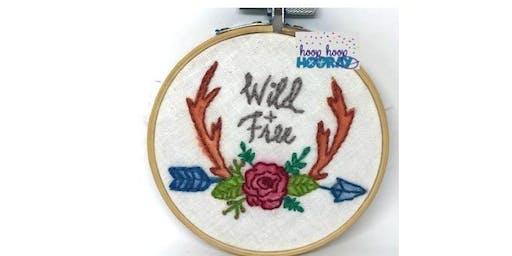 Children's Basic Stitching Workshop 'Wild & Free' - July School Holidays