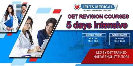 IN PERSON: Occupational English Test (OET) Medicine and Nursing Revision Course and Mock Examination - 24hr Results tickets