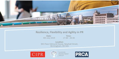 Resilience, Agility and Flexibility in PR and Creative Industries tickets