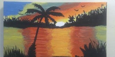 Island love Paint Night with Creative Essence