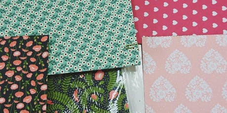 Scrapbook workshop with page kits and free sample bag tickets